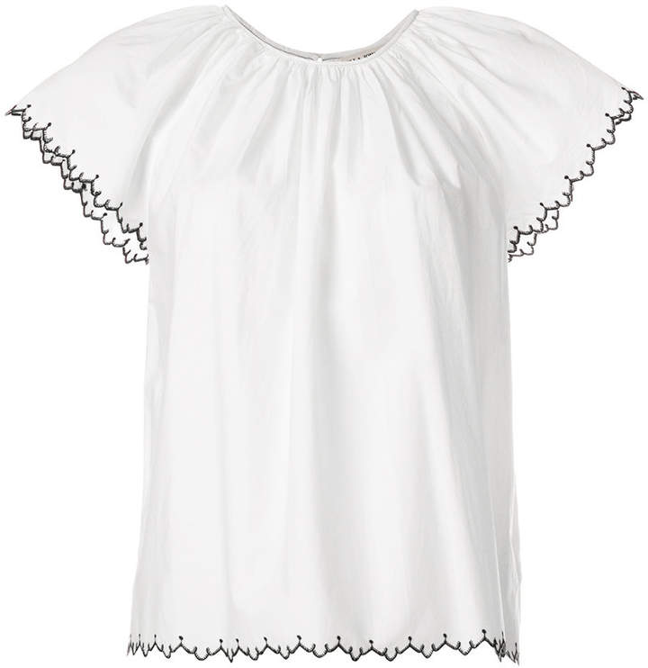 Ulla Johnson embroidered-hem blouse