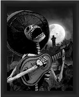 PTM Images Skeleton with Guitar I Framed Print