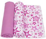 Miracle Blanket MiracleWare 2-Pack Stars Muslin Swaddles in Orchid