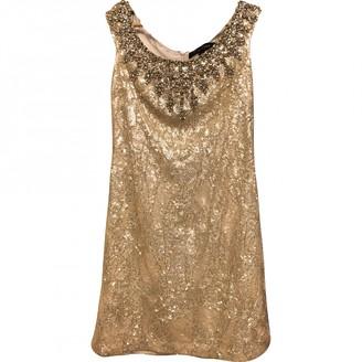 Jenny Packham Gold Glitter Dress for Women