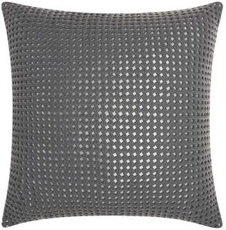 Nourison Mina Victory Couture Natural Hide Woven Metallic Throw Pillow