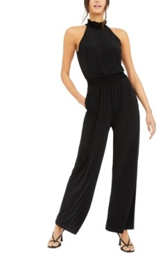 INC International Concepts Inc Petite Smocked Wide-Leg Jumpsuit, Created for Macy's