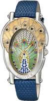 Brillier Women's 19-01 Bl Royal Plume Analog Display Swiss Quartz Blue Watch