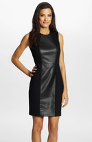 Cynthia Steffe 'Emma' Faux Leather Sheath Dress