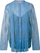 Nina Ricci lace panelled blouse - women - Polyamide/Viscose - 36