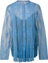 Nina Ricci lace panelled blouse