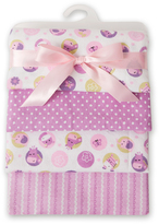 Lambs & Ivy 30'' x 30'' Hopscotch Four-Piece Flannel Blanket - Set of Four