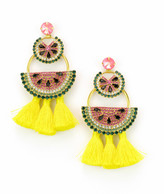 Elizabeth Cole Watermelon Chandeliers Earrings