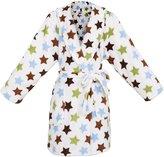 Simplicity Girl's Winter Plush Bathrobe Robe w/ Long Sleeve,PocketsMuti Dot1,XL