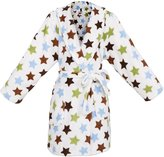 Simplicity Kid Girls' Heart Velvet Fleece Shawl Robe Bathrobe w/ Pockets,Heart,S