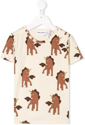 Mini Rodini unicorn-print crew-neck T-shirt