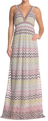 M Missoni Patterned Knit Maxi Dress