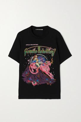 Stella McCartney - International Women's Day Printed Organic Cotton-jersey T-shirt - Black