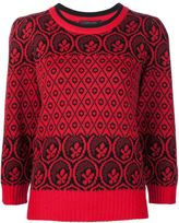 Marc Jacobs intarsia jumper - women - Polyester/Wool - M