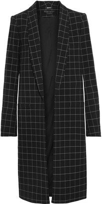 Alice + Olivia Kylie Checked Twill Coat