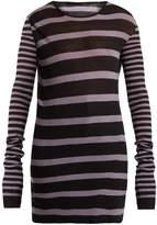 Haider Ackermann Round-neck striped cotton-blend sweater