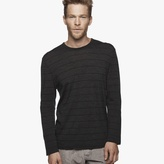 James Perse Washable Wool Striped Jersey Tee