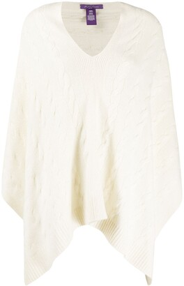 Ralph Lauren Collection Cable-Knit Cashmere Poncho