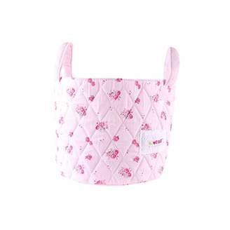 Minene Small Storage Organiser Basket Pink Flowers