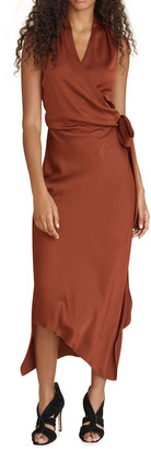 Veronica Beard Briony Sleeveless Asymmetric Wrap Dress