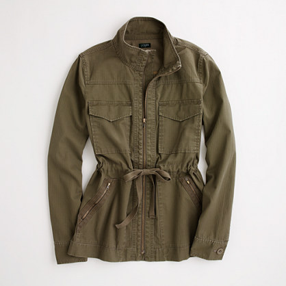 J.Crew Factory Factory washed cotton military jacket