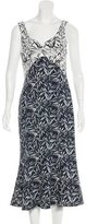 Prabal Gurung Cutout-Accented Printed Dress w/ Tags