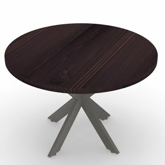 "Circular Conference Table Urban Wood Goods Size: 30"" H x 30"" L x 30"" W, Finish: Dark Walnut"
