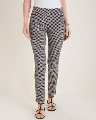 So Slimming Brigitte Diamond-Print Slim Ankle Pants