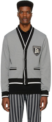 Dolce & Gabbana Black and White Houndstooth Cardigan