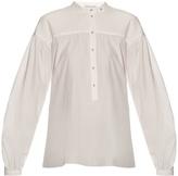 Tomas Maier Gathered-yoke poplin blouse