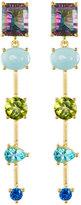 Indulgems Mixed-Stone Linear Dangle Earrings w/ Mystic Quartz