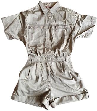Comptoir des Cotonniers Khaki Cotton Jumpsuit for Women