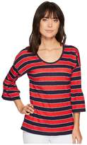 MICHAEL Michael Kors Rugby Stripe Scoop Top Women's Clothing