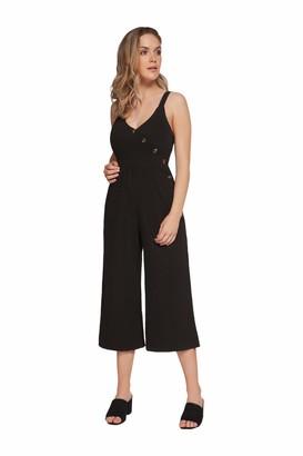 Dex Strapy Jumpsuit with Button Detail Black