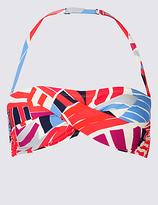 M&S Collection Printed Bandeau Bikini Top