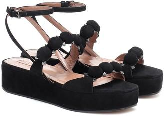 Alaia Bombe suede platform sandals