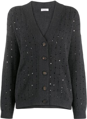 Brunello Cucinelli Sequin Detail Cardigan