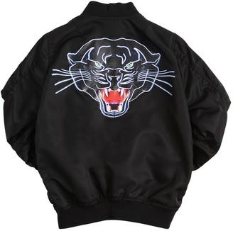 Marcelo Burlon County of Milan Panther Printed Nylon Bomber Jacket
