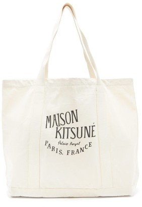 MAISON KITSUNÉ Logo-print Canvas Tote Bag - Cream