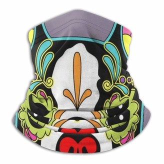 Nch Uwdf Fleece Neck Warmer Day Dead Mexican Folk Art Dog Neck Gaiter Tube Ear Warmer Headband & Face Balaclava & Beanie