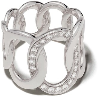 Pomellato 18kt white gold Brera diamond ring