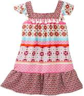Trixxi Twin Printed Flutter Sleeve Dress (Big Girls)