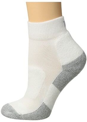 Thorlos Lite Walking Mini Crew Single Pair (White) Women's Crew Cut Socks Shoes