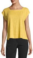 Eileen Fisher Hemp/Cotton Twist Cropped Top, Petite
