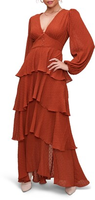 ASTR the Label Romance Me Long Sleeve Maxi Dress