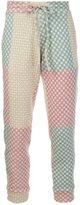 The Elder Statesman drawstring fastening cashmere trousers - men - Polyamide/Spandex/Elastane/Cashmere - M