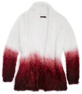 Ella Moss Girls' Fuzzy Ombré Cardigan Sweater - Sizes 7-14