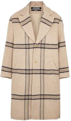 Jacquemus Le Manteau checked wool coat