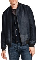 The Kooples Versatile Mixed Weave Bomber Jacket