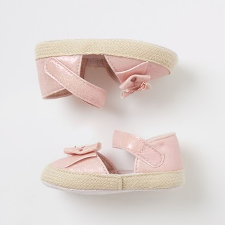 River Island Baby Pink bow espadrille sandals